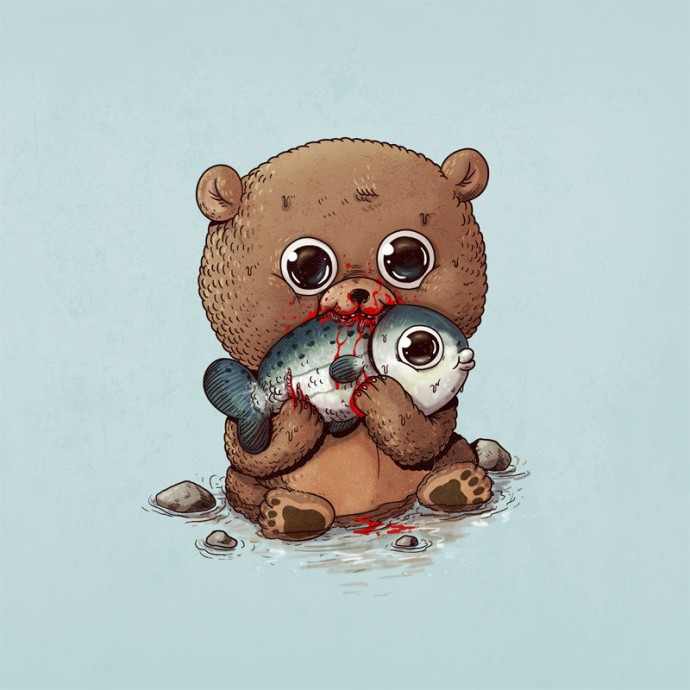 Artist Depicts The Circle Of Life With The Cutest Illustrations Of Predators And Their Prey
