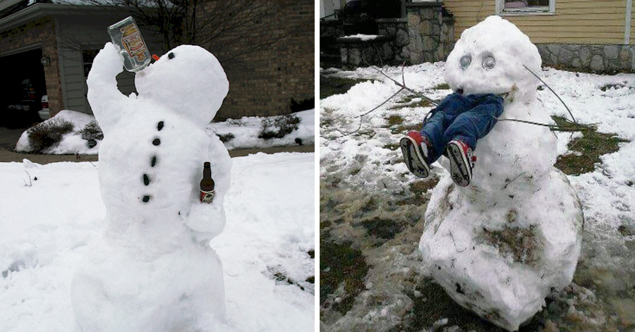 15 Hilariously Creative Snowmen That Will Take Winter To ...