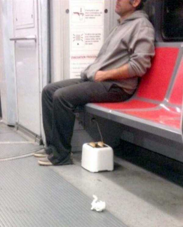 25 Of The Weirdest People You Can Find On The Subway. #9 Is Just Hilarious!