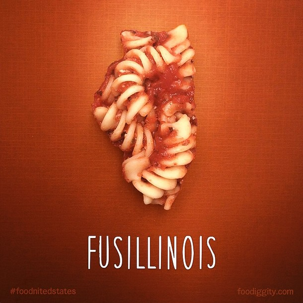 Artist Reimagines All 50 States As Food Puns. Tunassee Is The Best Ever.
