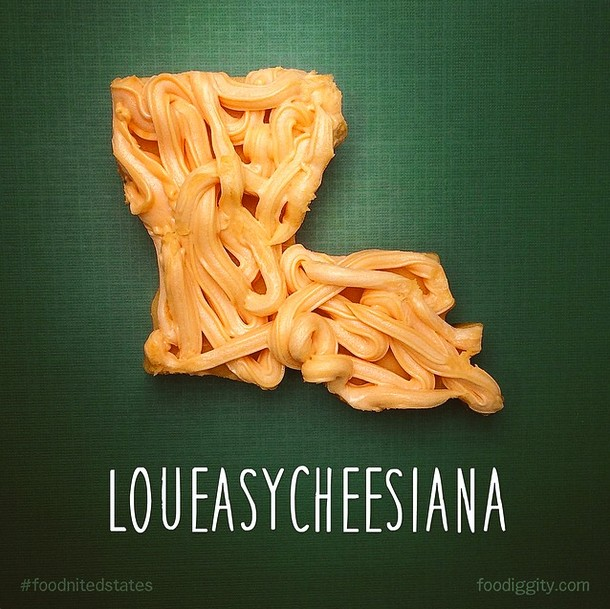 Artist Reimagines All 50 States As Food Puns.