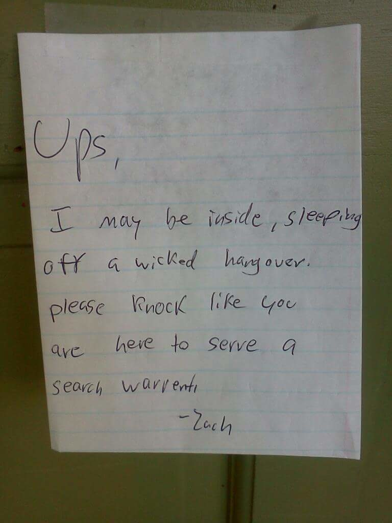 21 Of The Funniest Notes Left For The Delivery Guy 3 Is