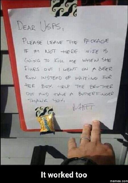 21 Of The Funniest Notes Left For The Delivery Guy. #3 Is The Best Ever.