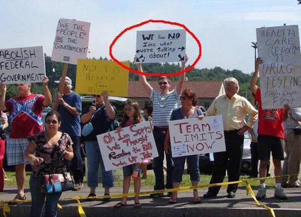 29 Protester Who Really Have No Idea What They're Protesting For. #11 Cracked Me Up!
