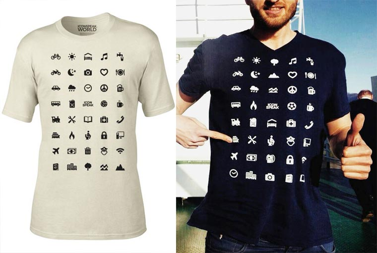 Brilliant Traveler T-Shirt Has 40 Icons To Solve The Communications Problems Everywhere You Go
