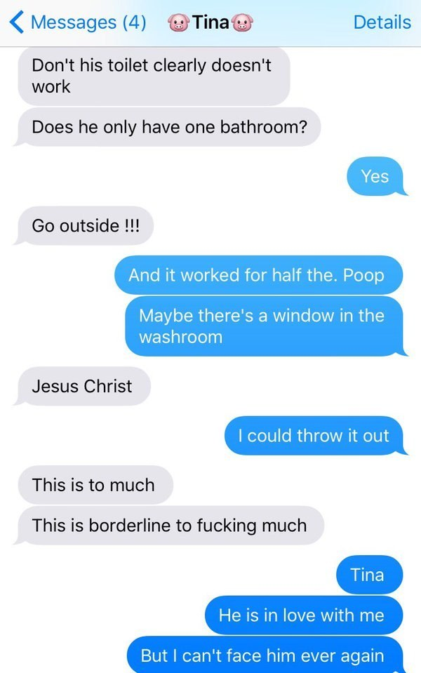 Woman Can't Flush Poo Down The Toilet On First Date, What Happened Next Is Totally Hilarious.