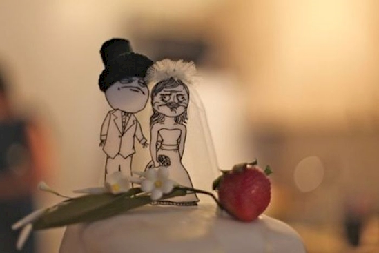 hilarious wedding cake toppers