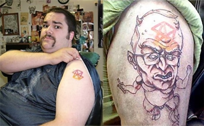 20 of the most creative tattoo cover ups ever 10 is just for Cool cover up tattoos