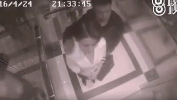 man-woman-elevator