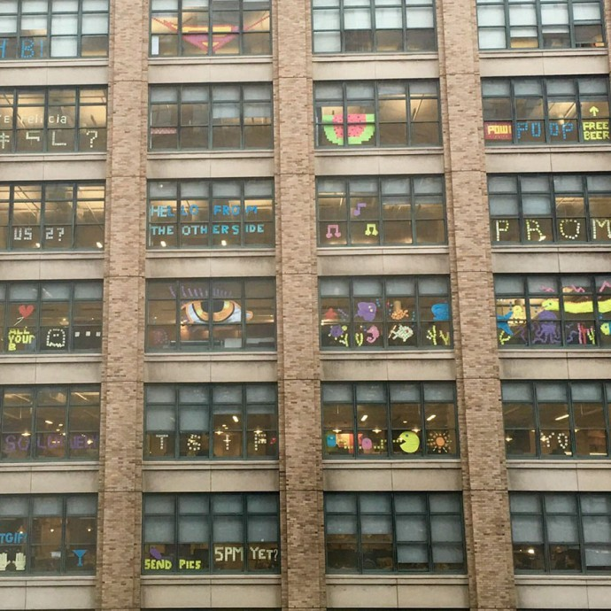 Post-It War Between Two Facing Buildings Ends In The Best Way Ever Possible