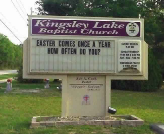 32 Hilarious Church Signs That Will Make You Laugh Way More Than You ...