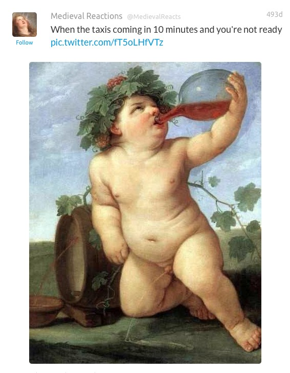 22 Hilarious Art History Tweets Proving That 2016 And 1400 Are Basically The Same Thing. #5 Killed Me!