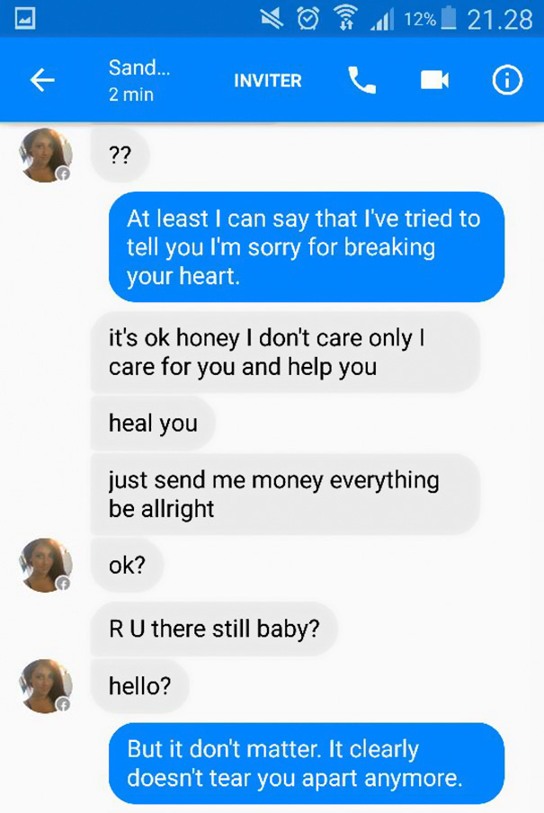 Guy Received A Text From A Facebook Scammer And Used Adele's Lyrics To Troll Him In The Best Way Ever