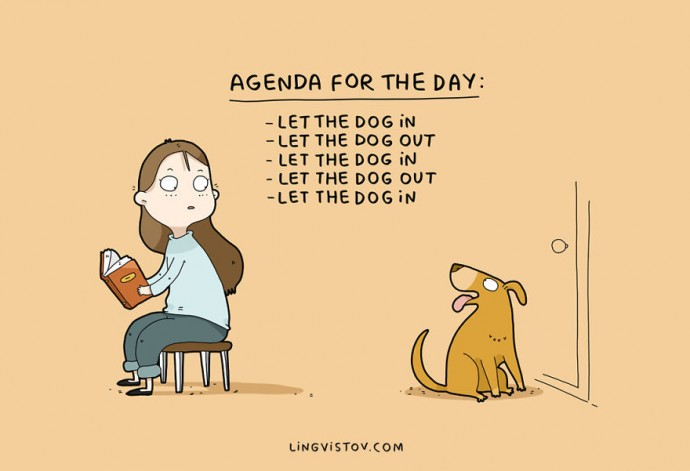 10 Illustrations That Every Dog Owner Will Understand. #5 Is So True It Hurts.