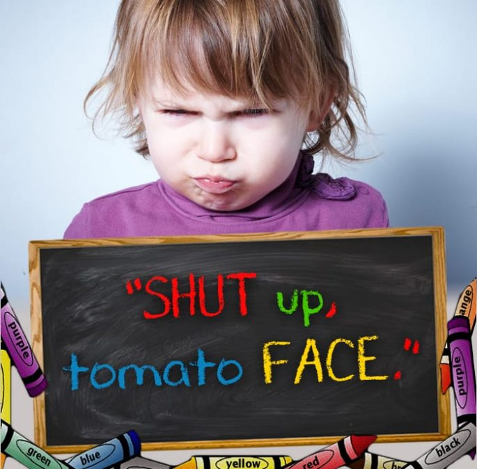 15 Hilarious Insults From Toddlers That Will Make You Cry From Laughter. #6 Killed me.