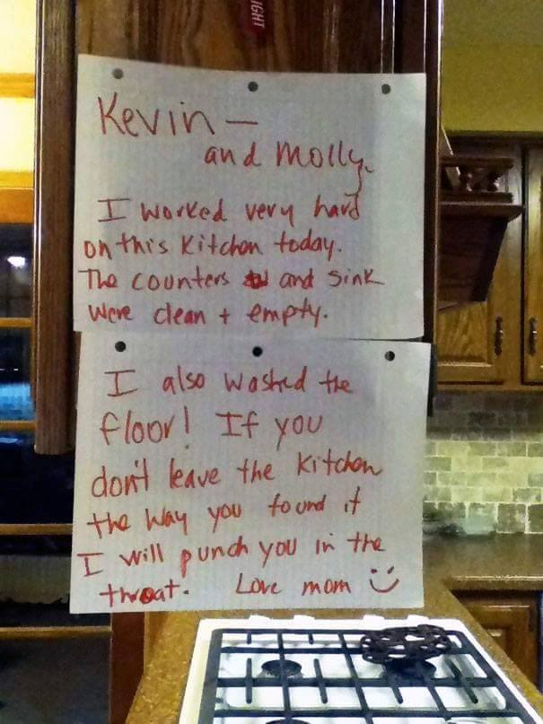 21 Of The Most Hilarious Notes Ever Written By Parents. #5 Is The Best Ever.