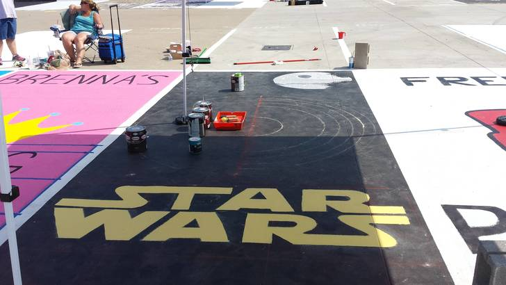 High School Seniors Painted Their Parking Spots And The Internet Fell In Love With Their Art