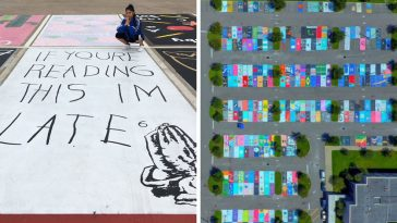 high-school-seniors-painted-their-parking-spots-and-the-internet-fell-in-love-with-their-art