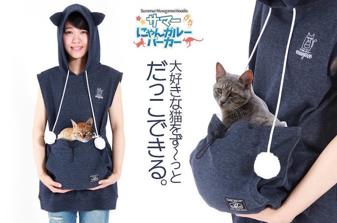 Hoodie Lets You Wear Your Cat
