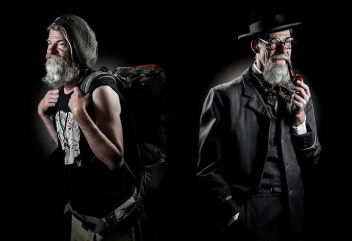 Photographer portrays homeles dressed up for their dream careers