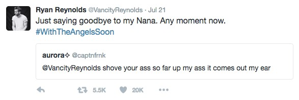 Ryan Reynolds Responds To Fans' Dirty Tweets And It's Just Hilarious