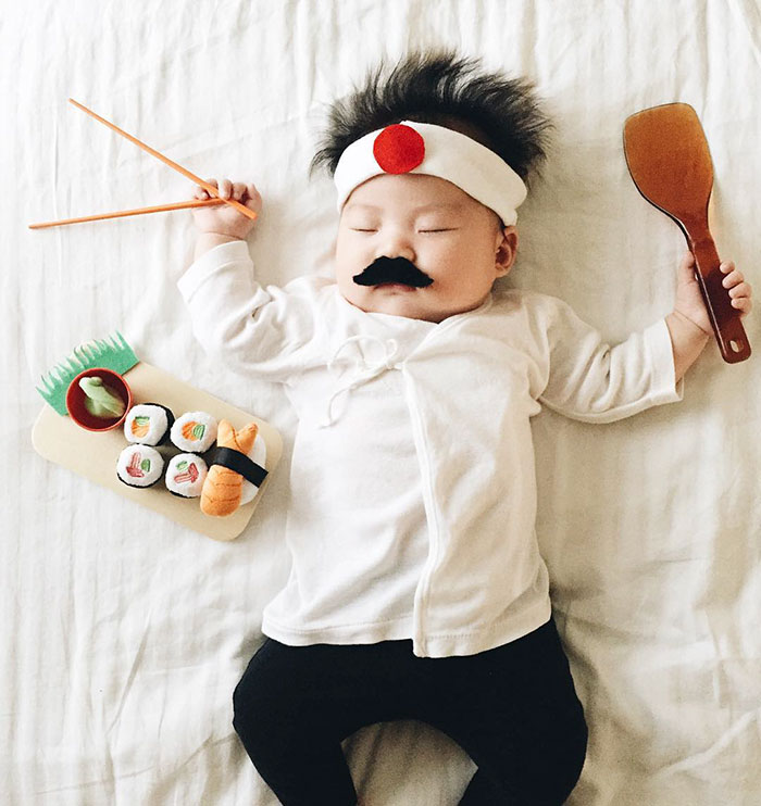 Sleeping Baby Becomes The Star Of Cosplay During Her Naps, And She Doesn't Even Know It