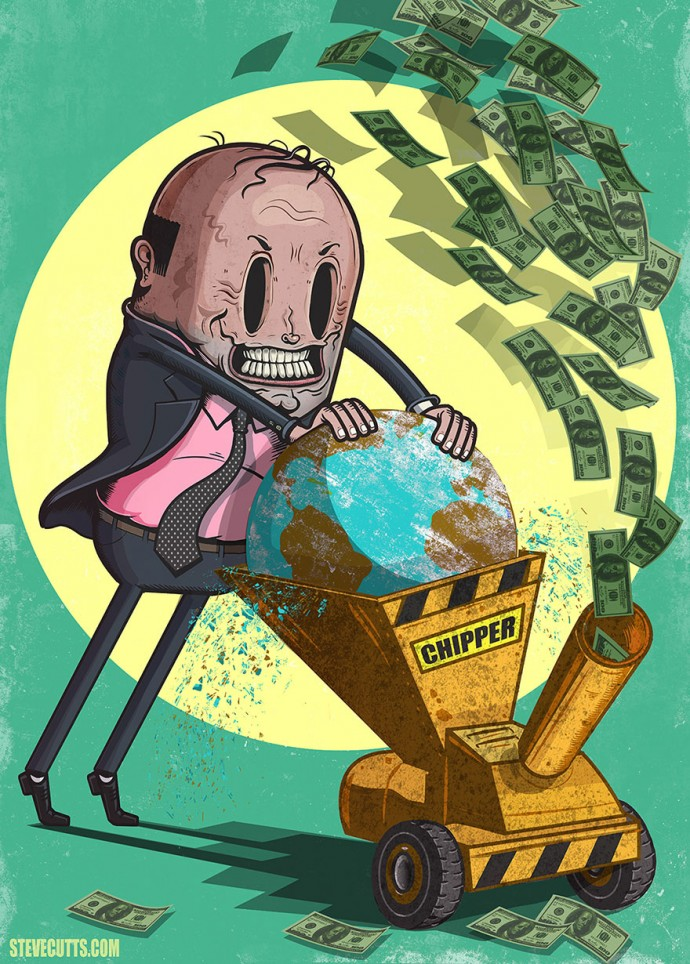 18 Brutally Honest Illustrations By Steve Cutts Perfectly Depict The Sad Reality Of Our Modern World
