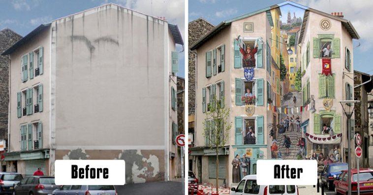 artist-transforms-empty-city-walls-lively-scenes