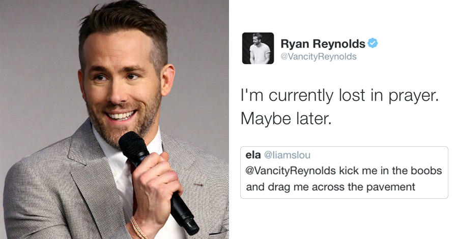 Ryan Reynolds Politely Responds To Fans Dirty Tweets And Its - Deadpool and wolverine are trolling each other on twitter and its the best battle ever