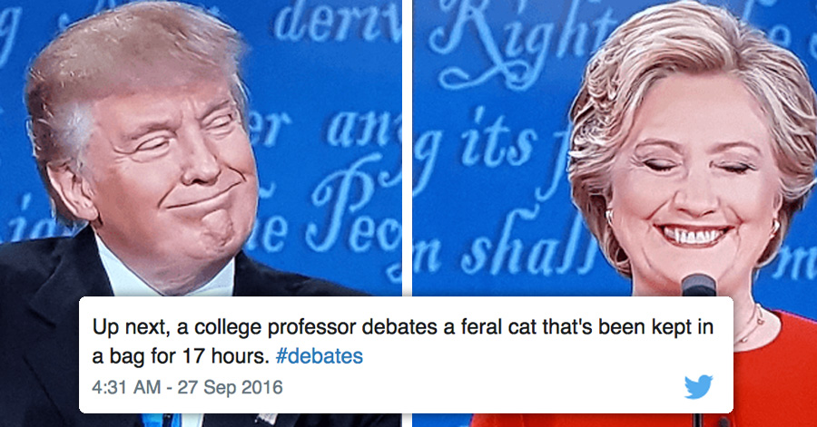 The Funniest Reactions To The First TrumpClinton Presidential - Trump draws tweets gifs of donald trump showing off his doodles and its totally hilarious