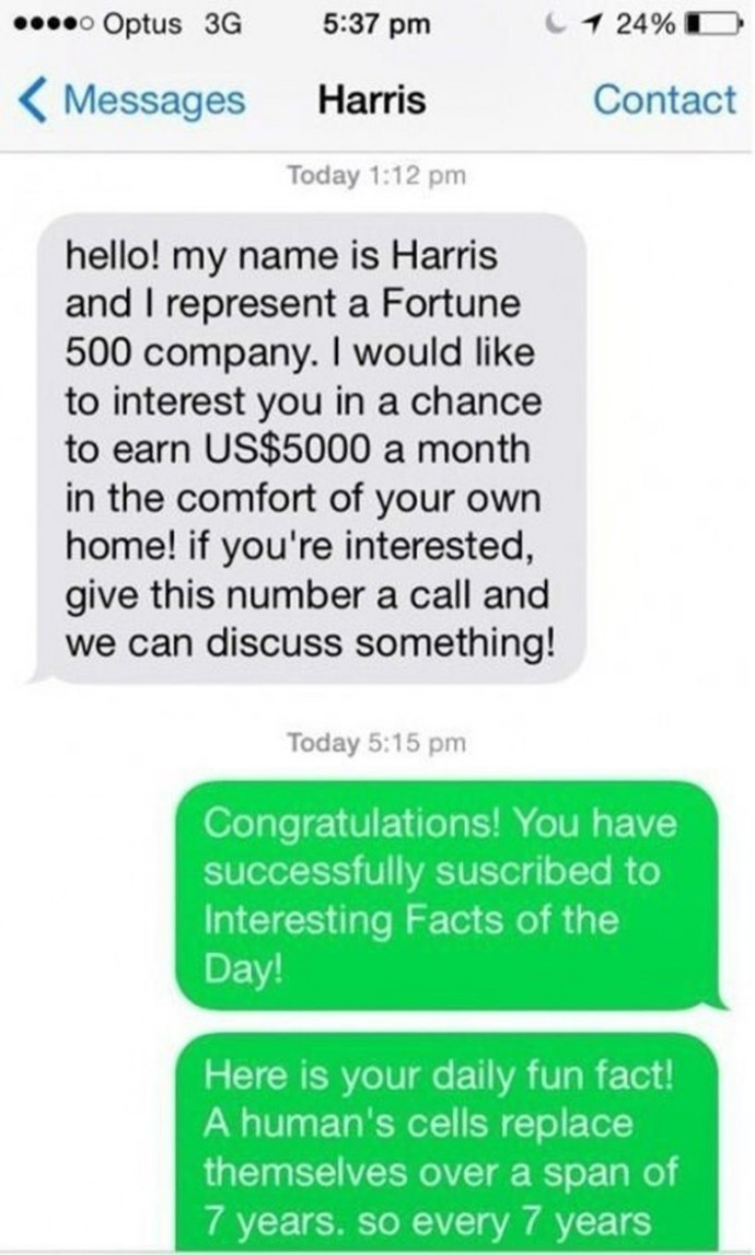 Salesman Sends Unsolicited SMS To The Wrong Person And Gets Trolled In The Most Epic Way Ever