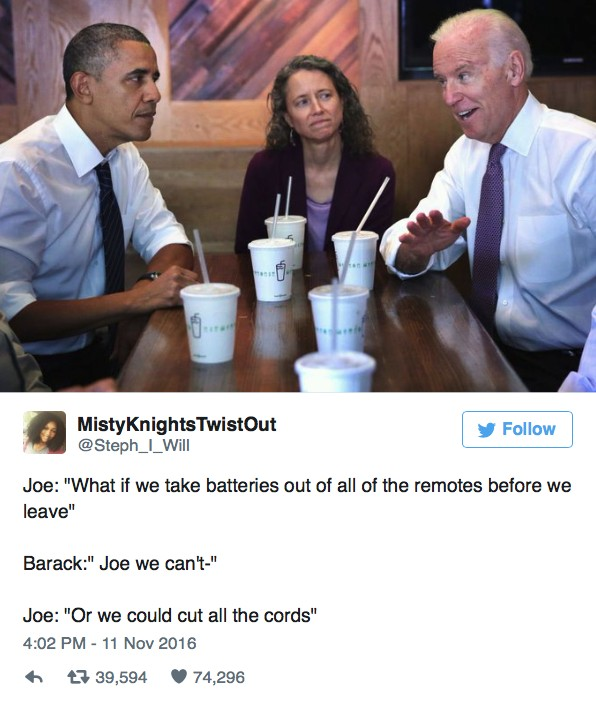 23 Conversations Obama And Biden Supposedly Had Since Trump Won The Elections