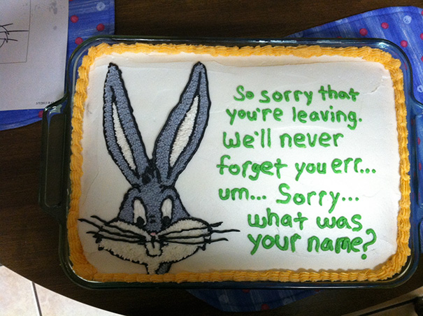 20 Hilarious Goodbye Cakes People Got On Their Last Day At Work