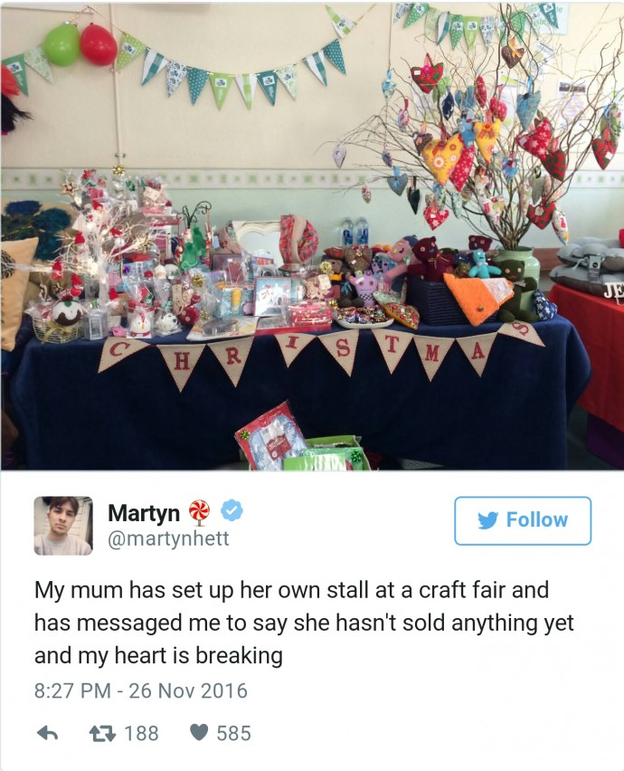 A Mum Didnt Sell Any Of Her Creations At A Craft Fair So Twitter - Unpopular railway puts 15 year old intern in charge of their twitter account he takes the internet by storm