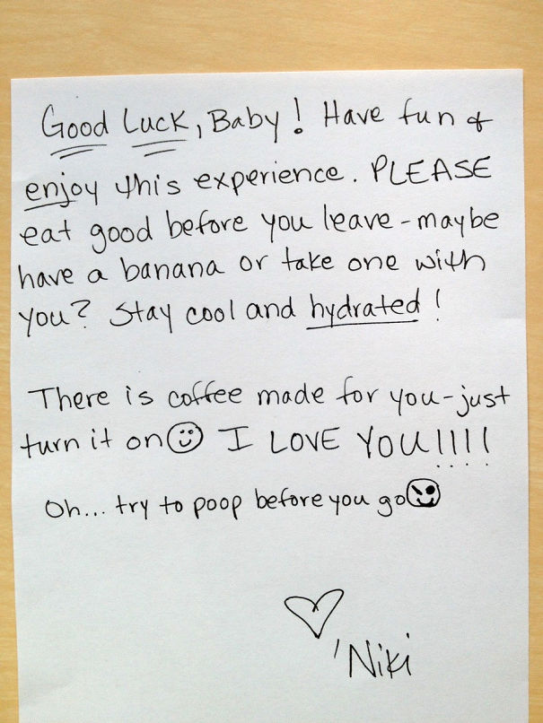 Funny letter to boyfriend