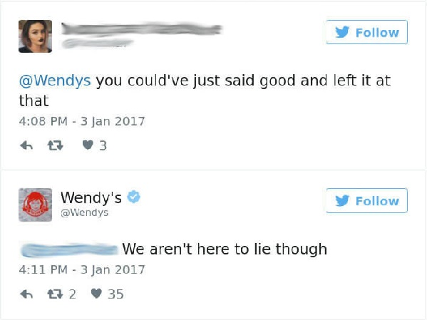 24 Of The Most Hilariously Sarcastic Comebacks From Wendy's