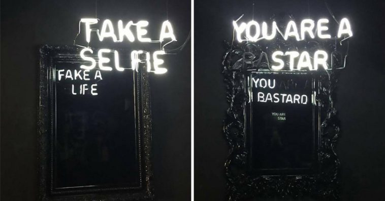 Brilliant Mirrors Reveal The Hidden Sides Of The Selfie Culture - Brilliant mirrors reveal hidden sides selfie culture