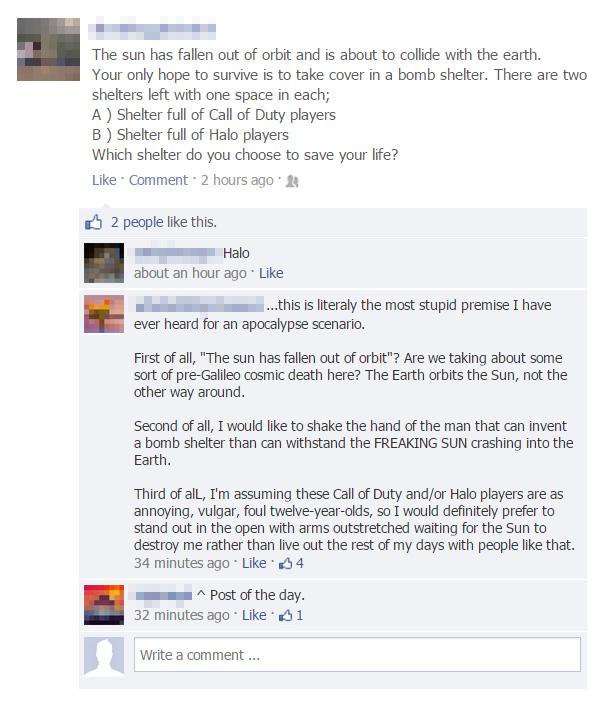 Hilarious Facebook Comebacks That Burn Too Much To Be Forgotten - 32 hilarious facebook comebacks that burn too much to be forgotten