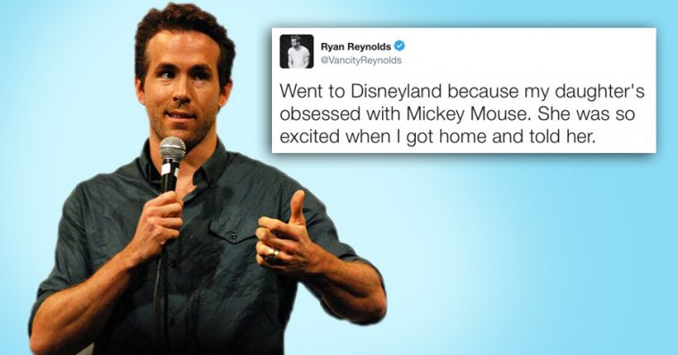 Reasons Why Ryan Reynolds Is The Most Hilarious Dad On Twitter - Ryan reynolds politely responds to fans dirty tweets and its just hilarious