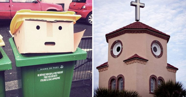 Hilarious Examples Of Pareidolia Seeing Faces In Everyday - Facespics a twitter account all about hidden faces in everyday objects