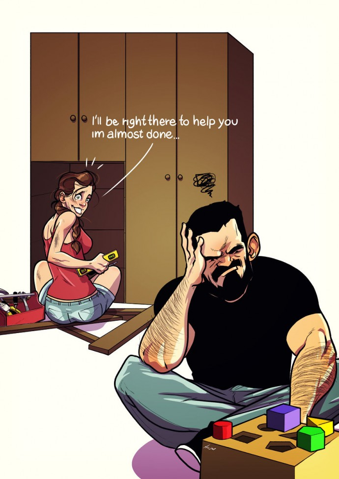 Artist Illustrates Everyday Life With His Wife, And We All