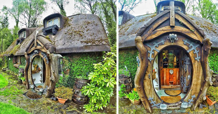 39 Lord Of The Rings 39 Fan Builds His Own Hobbit House And