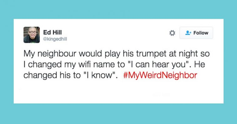 Here Comes Jimmy Fallon With The Hashtag Game On Twitter Again This Time He Asked People To Tweet Weird Neighbor Stories And Lets Be Honest