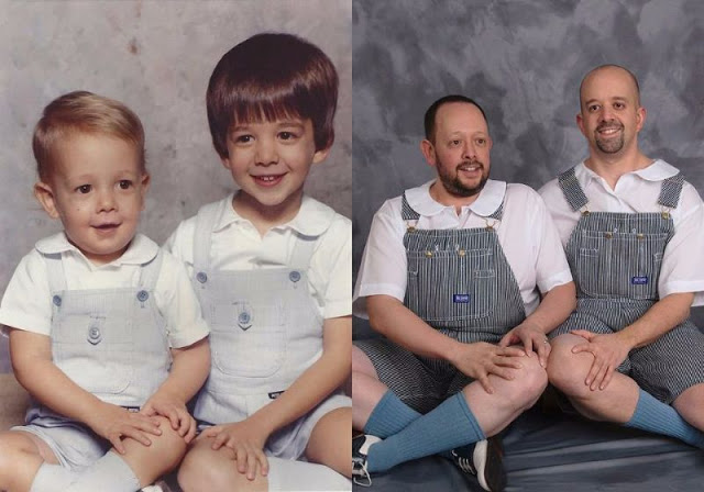 People Who Recreated Their Family Photos From The Past In The - 24 hilariously awkward family photo will make cringe 9 makes no sense
