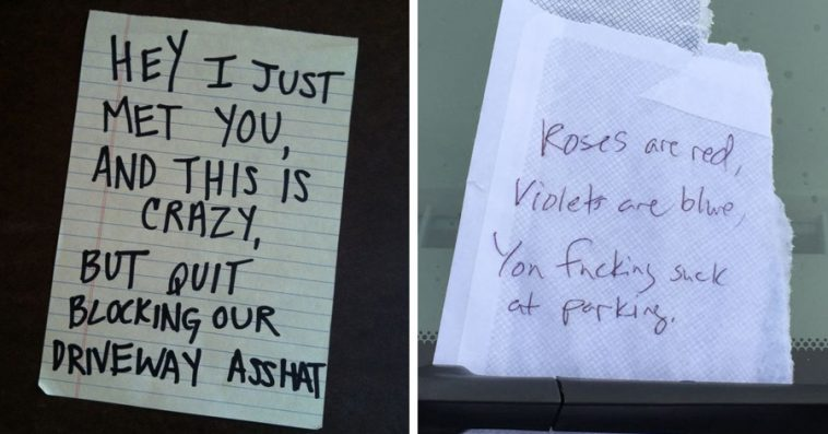 Hilarious PassiveAggressive Notes Left To Bad Parkers Page - 29 hilarious passive aggressive notes to bad parkers 4 killed me
