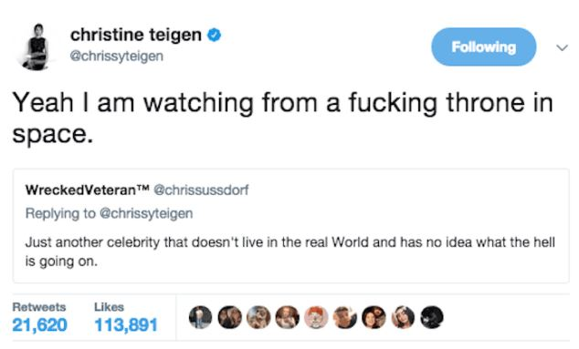 Times Chrissy Teigens Twitter Comebacks Were So Good They Sent - 24 hilarious comebacks wendys twitter account