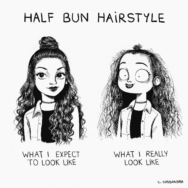 Artist Perfectly Illustrates The Daily Struggles Of Being A Woman - Artist perfectly illustrates the daily struggles of being a woman