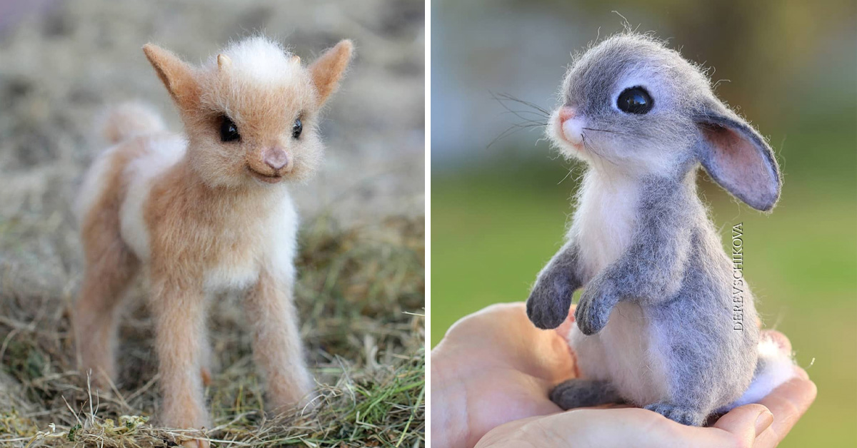 Russian Artist Creates Tiny Realistic-Looking Felted Wool Animals, And These Are Her Cutest Creations