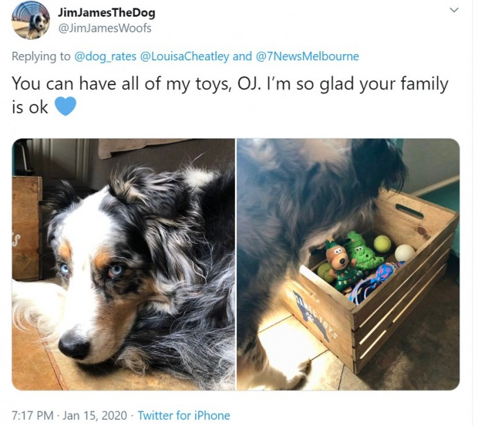 And shared pictures of their own well-loved toys