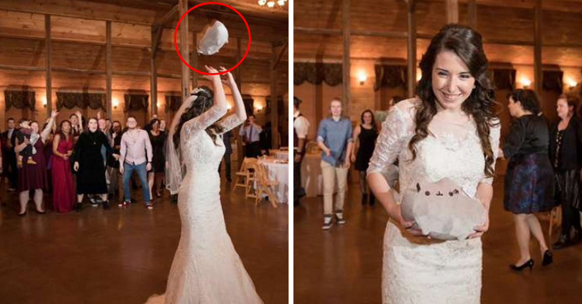 Bride Throws Plush Cat Instead Of Bouquet To See Who'd Be The Next Person To Adopt A Cat